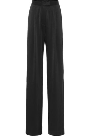 ALEX PERRY Hartley high-rise satin crêpe pants