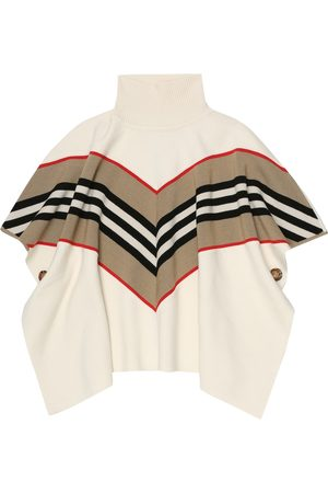 Burberry Icon Stripe wool-blend poncho