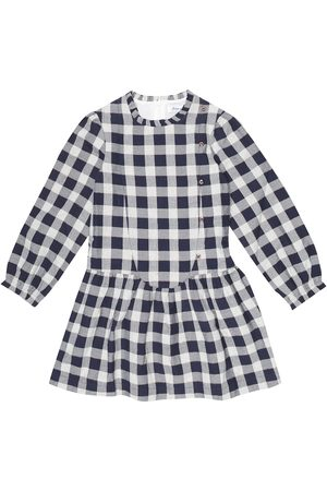 Tartine Et Chocolat Checked cotton-blend dress