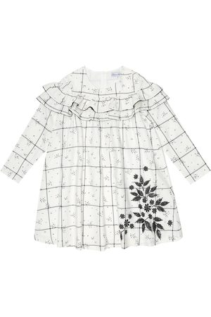Tartine Et Chocolat Embroidered checked cotton-blend dress