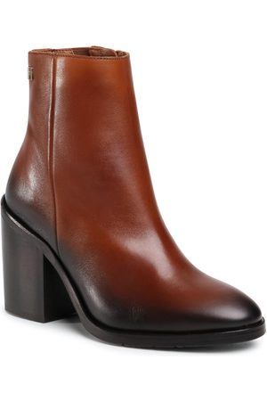 Tommy Hilfiger Botki - Shaded Leather High Heel Boot FW0FW05164 Pumpkin Paradise GOW
