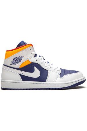 "Jordan Air 1 Mid ""Royal /Laser Orange"" sneakers"