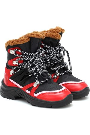 Stella McCartney Faux fur-trimmed hiking boots