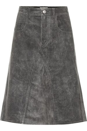 Isabel Marant Fiali leather midi skirt