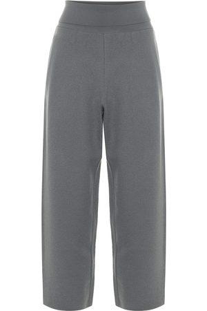 Stella McCartney Kobieta Spodnie z szeroką nogawką - Virgin wool wide-leg cropped pants