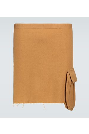 UNDERCOVER Wool apron with pocket