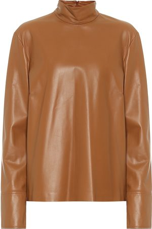 Joseph Bibo leather mockneck top