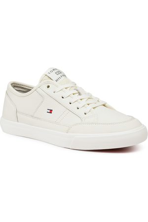 Tommy Hilfiger Mężczyzna Buty casual - Sneakersy - Core Corporate Leather Vulc FM0FM02980 Ivory YBI