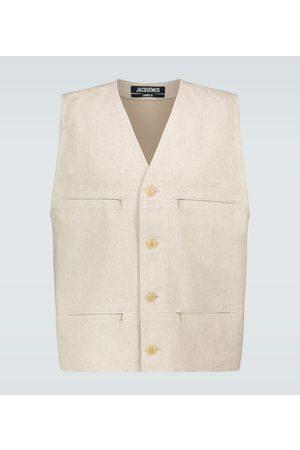 Jacquemus Kamizelki - Le Gilet linen vest