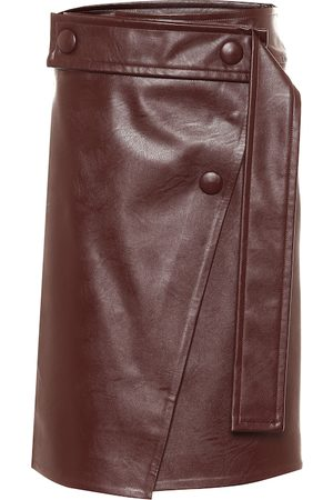 Stella McCartney High-rise faux leather midi skirt
