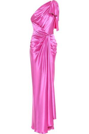 Dolce & Gabbana One-shoulder silk satin gown