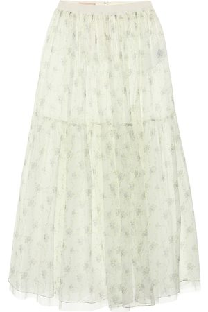 BROCK COLLECTION Roulette floral silk midi skirt