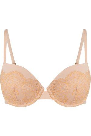 Skiny Kobieta Z fiszbinami - Biustonosz z fiszbinami i regulowanymi ramiączkami model 'Cotton Ballet' — watowany