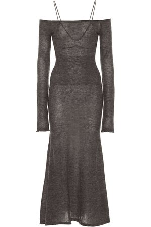 Jacquemus La Robe Valerie mohair-blend midi dress