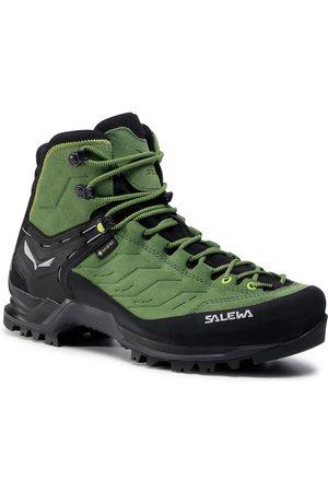 Salewa Mężczyzna Buty trekkingowe - Trekkingi - Mtn Trainer Mid Gtx GORE-TEX 63458-5949 Myrtle/Fluo Green
