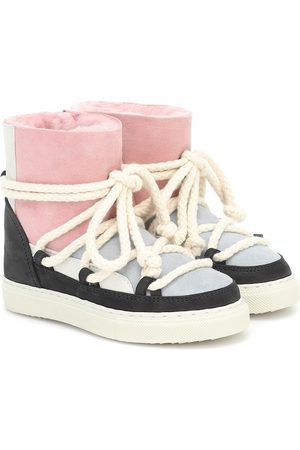 INUIKII Kids Patchwork suede and leather boots