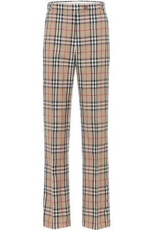 Burberry Vintage Check high-rise pants
