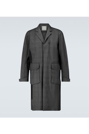 LARDINI Technical checked overcoat