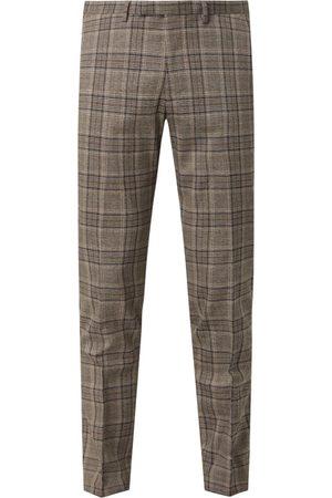 McNeal Spodnie od garnituru o kroju slim fit z dodatkiem streczu model 'Steve'