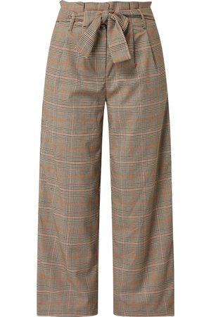 VILA Kobieta Spodnie - Spodnie typu paperbag ze wzorem w kratę glencheck model 'Mulini'