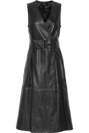 Joseph Kobieta Sukienki midi - Dibo leather midi dress