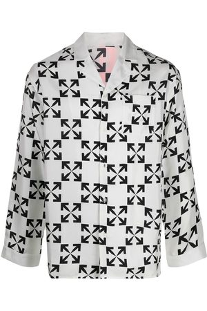 OFF-WHITE Arrows print silk pyjamas