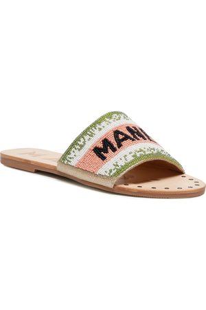 MANEBI Klapki - Leather Sandals S 3.8 Y0 Rose Green