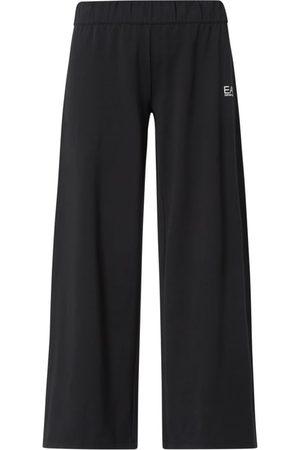 EA7 Spodnie typu track pants z szerokimi nogawkami
