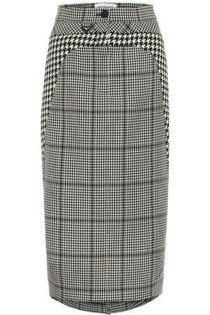 Marine Serre Kobieta Spódnice ołówkowe - Houndstooth wool pencil skirt