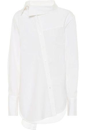 MONSE Kobieta Z długim rękawem - Tie-neck stretch-cotton shirt