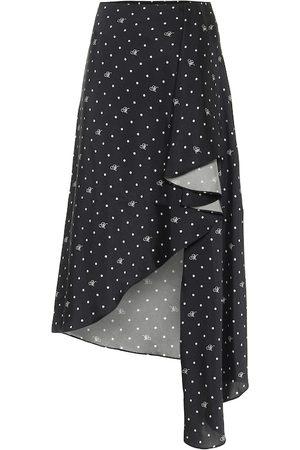 MONSE Kobieta Spódnice midi - Polka-dot asymmetric midi skirt