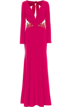 Marchesa Notte Embellished stretch-crêpe gown