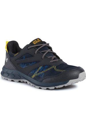 Jack Wolfskin Chłopiec Buty trekkingowe - Trekkingi - Woodland Texapore Low K 4042161 D Dark Blue/Yellow