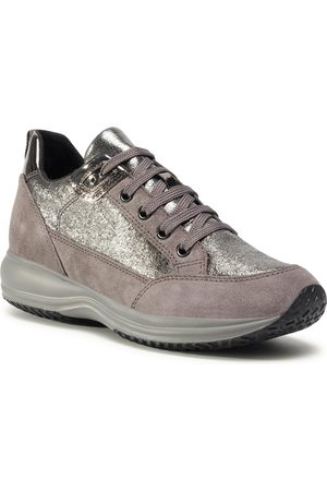 Geox Sneakersy - D Happy A D0462A 0CF22 C1G9F Gun/Dk Grey