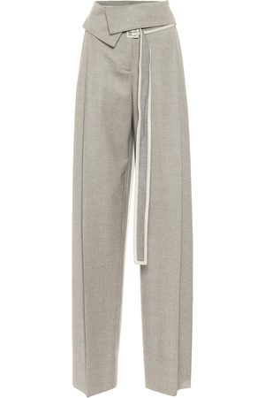 Stella McCartney High-rise wool wide-leg pants