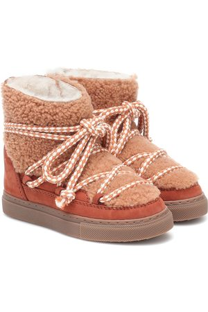 INUIKII Kids Sneaker shearling and suede boots
