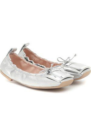 Roger Vivier Viv' Pockette leather ballet flats