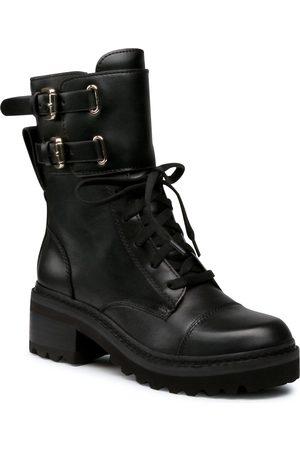 DKNY Kobieta Buty sznurowane - Trapery - Bart K3052117 Black