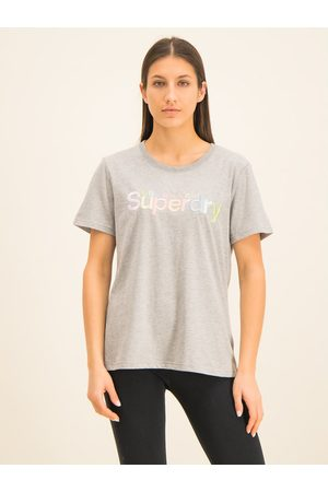 Superdry T-Shirt Classic Rainbow Emb Entry Tee W1000057A Classic Fit