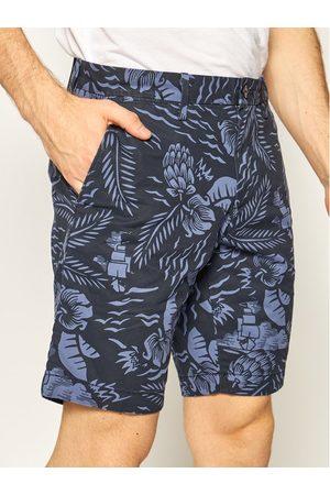 TOMMY HILFIGER Szorty materiałowe Brooklyn Hawaii Print MW0MW13528 Granatowy Regular Fit