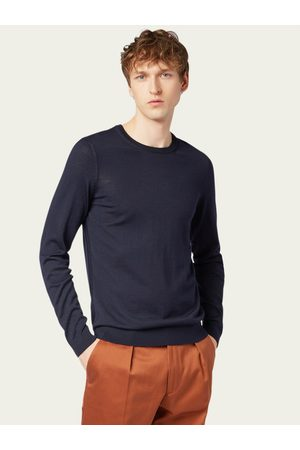 HUGO BOSS Sweter Leno-P 50378575 Granatowy Regular Fit