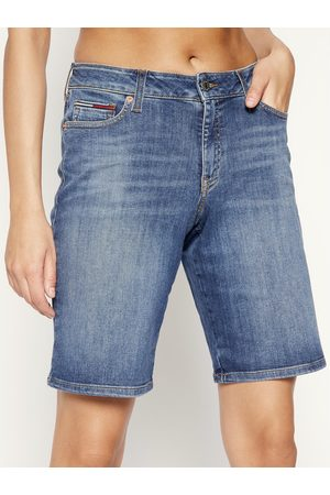Tommy Hilfiger Szorty jeansowe Mid Rise Denim Bermuda DW0DW08214 Granatowy Regular Fit