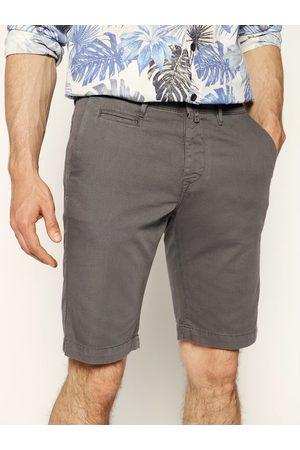 Mężczyzna Szorty - Pierre Cardin Szorty materiałowe 3465/2040 Szary Tailored Fit