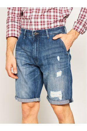 Mężczyzna Luźne i Boyfriend - Pepe Jeans Szorty jeansowe Callen PM800771 Niebieski Relaxed Fit