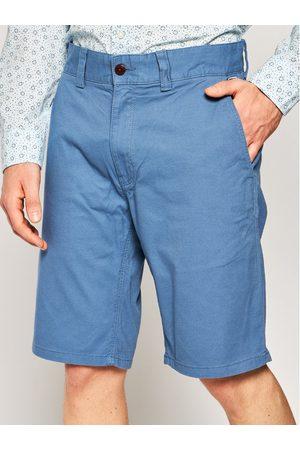 Mężczyzna Straight - Tommy Jeans Szorty materiałowe Dobby Chino DM0DM07940 Niebieski Regular Fit