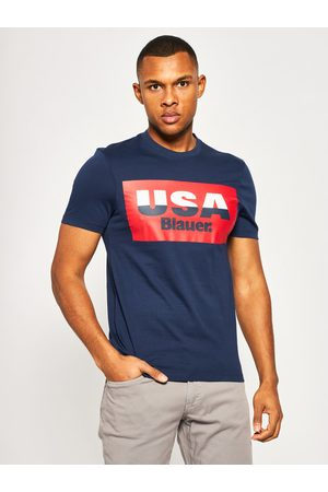 Blauer T-Shirt Soft 20SBLUH02158 004547 Granatowy Regular Fit