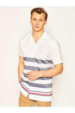 Mężczyzna Na co dzień - TOMMY HILFIGER Koszula Breton MW0MW13450 Biały Regular Fit