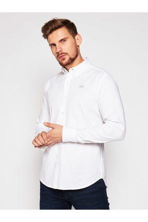 La Martina Koszula CCMC03 OX014 Biały Slim Fit