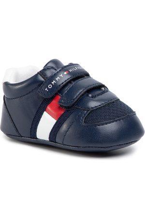 Tommy Hilfiger Buty casual - Sneakersy Velcro Shoe T0B4-30191-0271 Granatowy