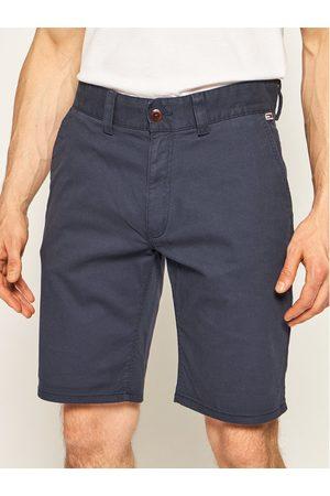 Tommy Jeans Szorty materiałowe Tjm Dobby Chino DM0DM07940 Granatowy Regular Fit
